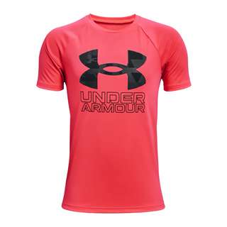 Under Armour Tech Hybrid Print T-Shirt Kids Funktionsshirt Kinder rot