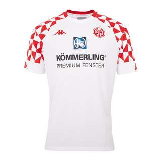 KAPPA 1. FSV Mainz 05 Trikot Away 2020/2021 Fußballtrikot Herren weiss