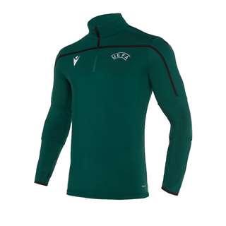 macron UEFA Offizielles Training Sweatshirt Funktionssweatshirt Herren gruenschwarz