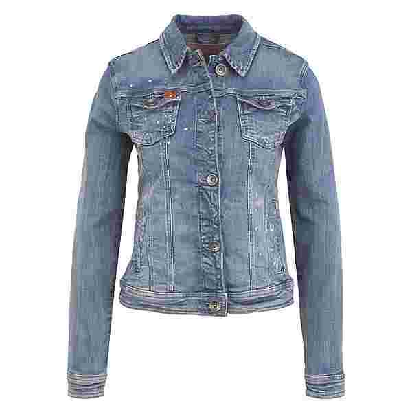 Frieda&Freddies in Used-Optik Jeansjacke Damen jeans blue