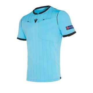 macron UEFA Schiedsrichtertrikot kurzarm Neon Schiedsrichtertrikot Herren blauschwarz
