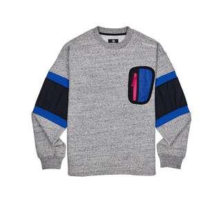 CONVERSE Mixed Media Crew Pullover Sweatshirt Herren grau