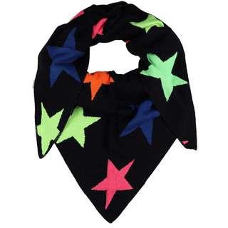 Zwillingsherz Neon Sterne Schal Damen schwarz/neon sterne