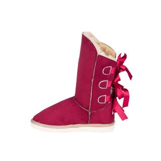 Antarctica boots Warme Schlupfstiefel mit Seidenschleife Boots Damen rot