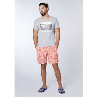 Chiemsee Badeshorts Badehose Herren Brown/Red AOP