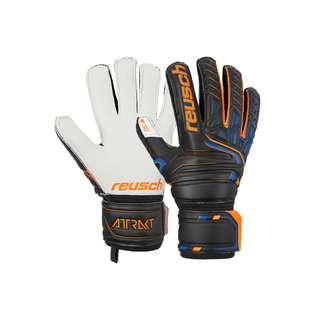 Reusch Attrakt SG Finger Support Torwarthandschuhe black/shocking orange