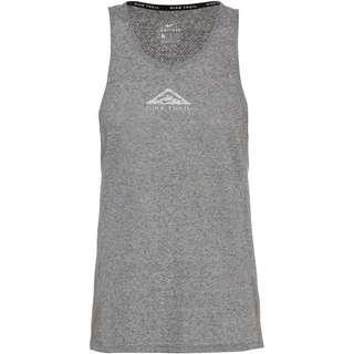 Nike City Sleek Funktionstank Damen dk grey heather-reflective silv