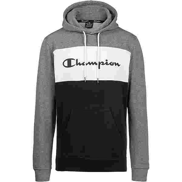 CHAMPION Hoodie Herren greymelange-white-black
