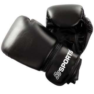ScSPORTS Boxhandschuhe  Kunstleder schwarz Boxhandschuhe Schwarz