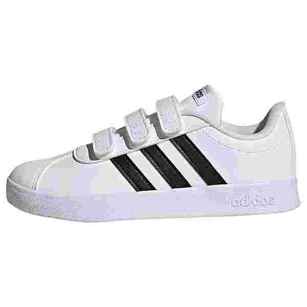 adidas VL Court 2.0 Schuh Sneaker Kinder Cloud White / Core Black / Cloud White