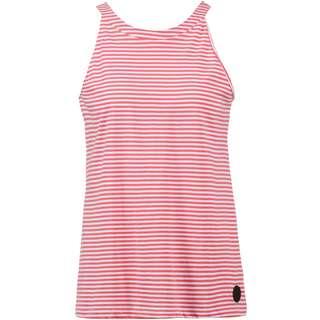 WLD Tropical House Spaghettitop Damen pink white stripes