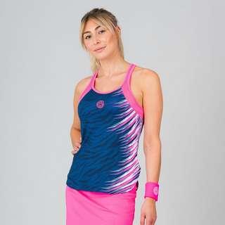 BIDI BADU Fanny Tech Tank Tennisshirt Damen schwarz/rot