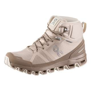 ON Cloudrock Waterproof Wanderschuhe Damen desert-clay