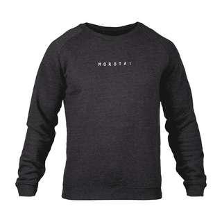 MOROTAI Logo Basic Sweatshirt Sweatshirt Herren Dunkelgrau
