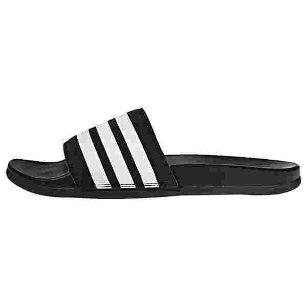 adidas Cloudfoam Plus Stripes Adilette Badelatschen Herren Core Black / Cloud White / Core Black