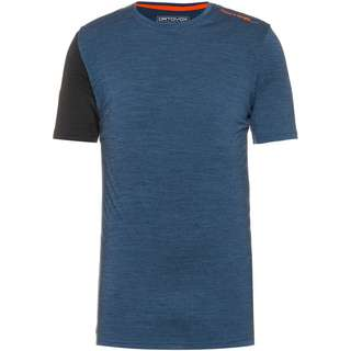 ORTOVOX Merino 185 ROCK'N'WOOL Funktionsshirt Herren night blue blend