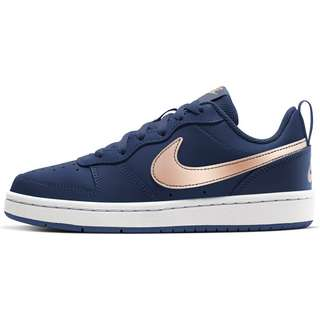 Nike COURT BOROUGH LOW 2 Sneaker Kinder midnight navy/mtlc red bronze-white
