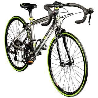 """Galano Vuelta STI 24"""" Rennrad Jugendrad Dirt Bike silber"""