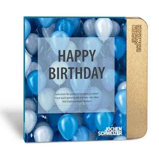 Jochen Schweizer Happy Birthday Geschenkbox blau