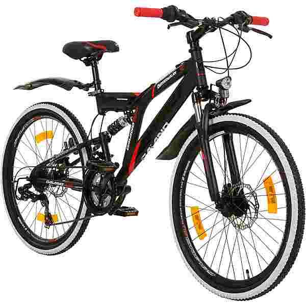 "Galano Adrenalin DS 24"" Fully Jugendrad Dirt Bike schwarz/rot"