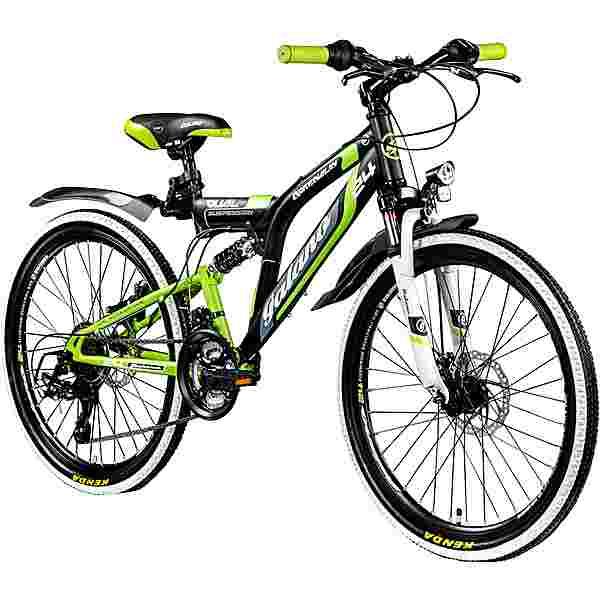 "Galano Adrenalin DS 24"" Fully Jugendrad Dirt Bike schwarz/grün"