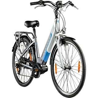 Zündapp Z901 700c E-Bike Hollandrad Rad E-Bike Damen grau/weiß
