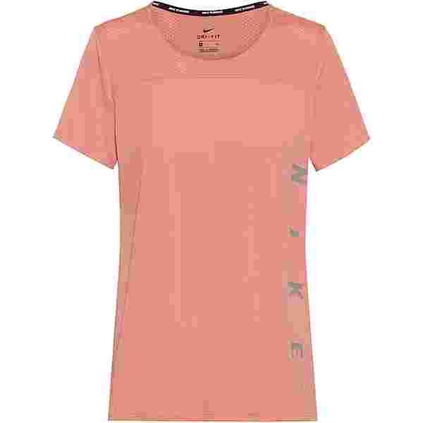 Nike Miler Run Division Funktionsshirt Damen rust pink/reflective silv