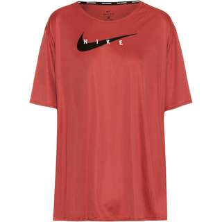 Nike Swoosh Run Funktionsshirt Damen canyon rust-reflective silv