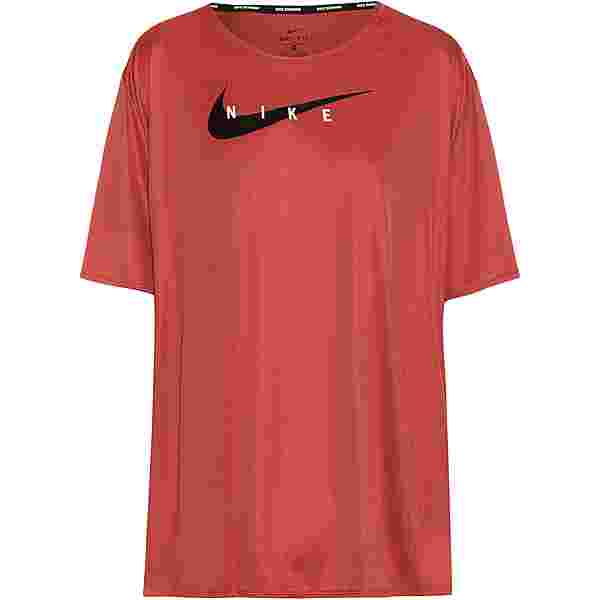 Nike Swoosh Run Funktionsshirt Damen canyon rust-reflective silv