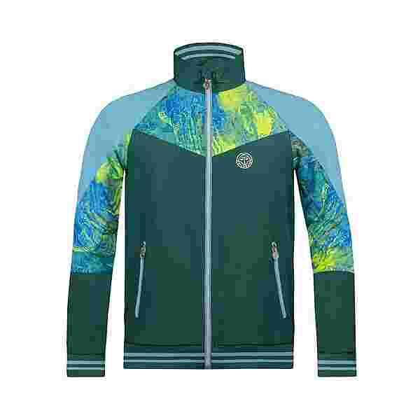 BIDI BADU Jabu Tech Jacket Funktionsjacke Herren dunkelgrün/neongrün