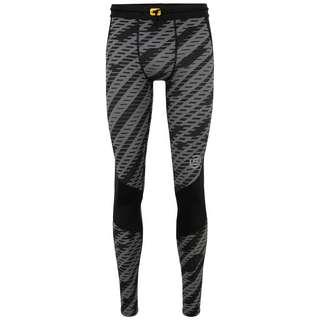 Skins S3 Long Tights Tights Herren Black Geo Print