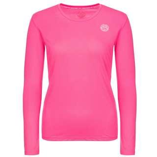 BIDI BADU Pia Tech Roundneck Longsleeve Tennisshirt Damen pink