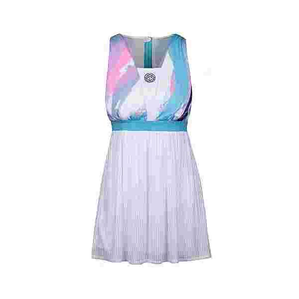 BIDI BADU Nia Tech Dress Tenniskleid Kinder weiß/blau