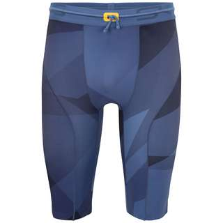 Skins S5 Half tights Tights Herren Blue Geo