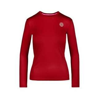BIDI BADU Pia Tech Roundneck Longsleeve Tennisshirt Damen rot