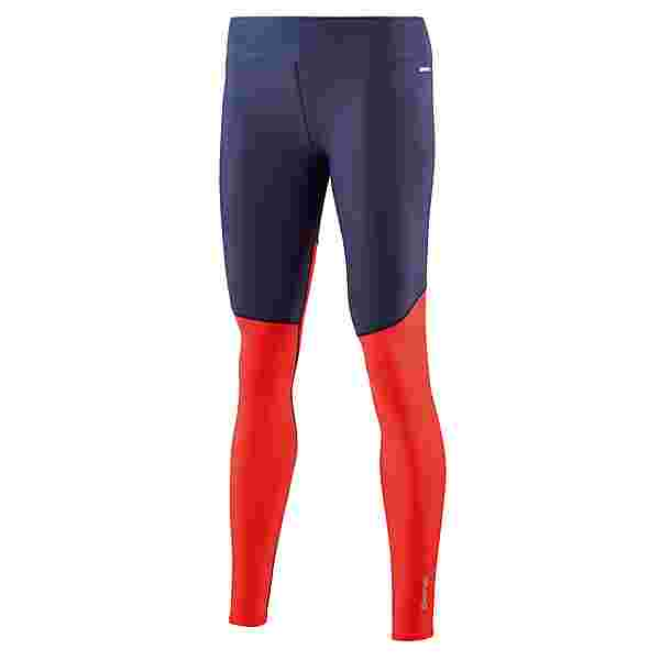 Skins DNAmic Soft Long Tights Tights Damen Navy Blue/Coral Red