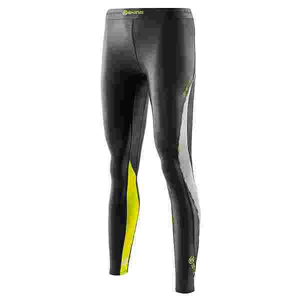 Skins DNAmic Long Tights Tights Damen Black/Limoncello