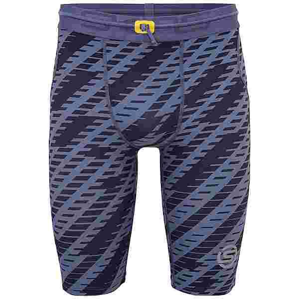 Skins S3 Half tights Tights Herren Blue Geo Print