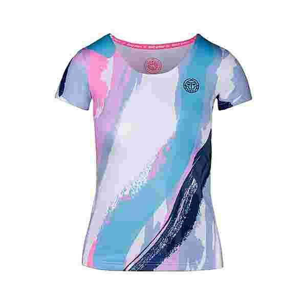 BIDI BADU Hede Tech Roundneck Tee Tennisshirt Kinder weiß/blau
