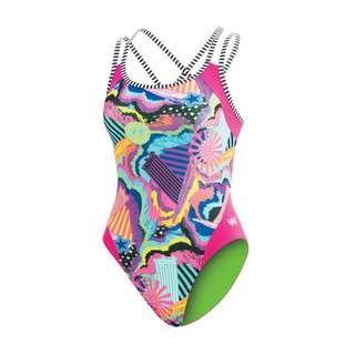 Dolfin Uglies Double Strap Open Keyhole Schwimmanzug Damen Shooting Star