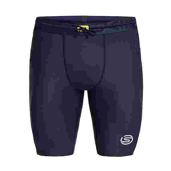 Skins S3 Half tights Tights Herren Navy Blue