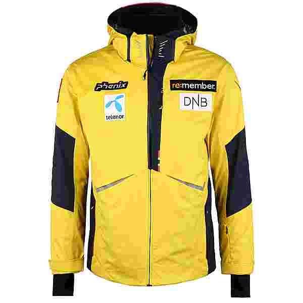 Phenix Norway Team Skijacke Herren golden yellow mit Logos