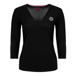 BIDI BADU Ariana Tech V-Neck Longsleeve Tennisshirt Damen schwarz