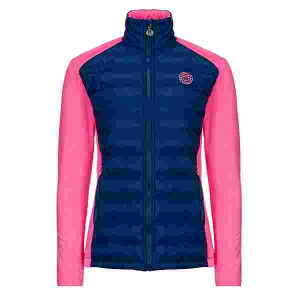 BIDI BADU Lee Tech Down Jacket Funktionsjacke Damen dunkelblau/pink
