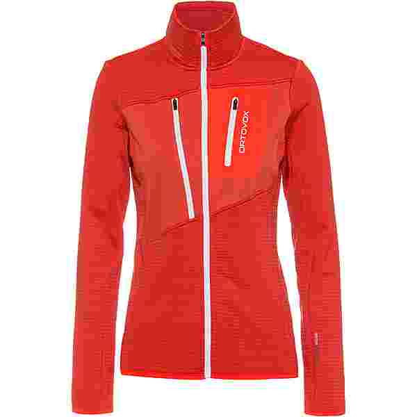 ORTOVOX Grid Fleecejacke Damen blush