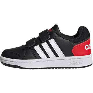 adidas HOOPS 2.0 CMF Sneaker Kinder core black/ftwr white/vivid red