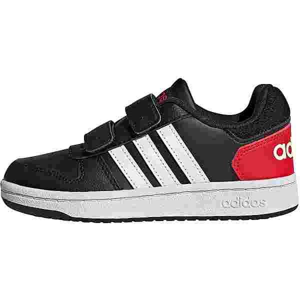 adidas HOOPS 2.0 CMF Sneaker Kinder core black-ftwr white-vivid red