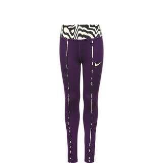 Nike One AOP Tights Kinder lila / schwarz