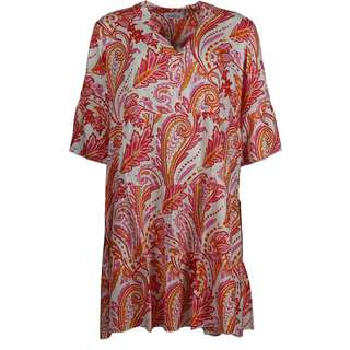 Zwillingsherz Kleid Paisley Minikleid Damen orange pink weiß