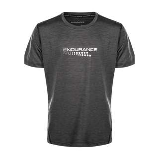 Endurance DRILL MELANGE Printshirt Kinder 1001BM Black Melange